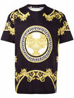 New Authentic Versace La Coupe des Dieux T-shirt Black Gold Men Barocco