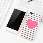 Lovely Heart Stripe Phone Case For iPhone 6 6S 7 8 Plus X Back Case Covers Skins