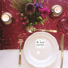 Berry Red Sequin Table Runner - Ready to ship from the UK