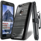 COVRWARE&reg; [IRON TANK] Holster Armor Case For ZTE Blade Z Max (Z982) <br/> [OFFICIAL STORE] Case with Built-in Screen Protector