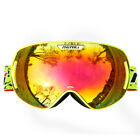 Snowboard Ski Snow Goggles for Adult,Red,Pink,Orange,Fluo Yellow,CE Anti Fog