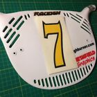 BMX Race Plate Number Sticker Decal - Bike Cycle Racing Numbers