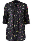 New Ladies Anthology Pleat Front Cotton Print Tunic Top Blouse Plus Sizes 10-28