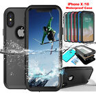 For iPhone X 6S 8 7 Plus Slim Waterproof Shockproof Dirt Proof Full Case Cover