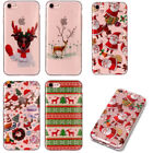 Lovely Christmas Pattern Phone Cover Ultra Thin Soft TPU Back Case for iPhone 5C