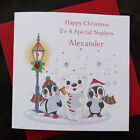 PERSONALISED Handmade CHRISTMAS CARD -  Cute Carol Singers - (x602)