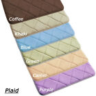 Non-Slip Water-aborbing Memory Foam Bedroom Bath Toilet Mat Rug Carpet - Plaid