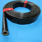 6mm-50mm High Temperature Heat Vulcan Fire Sleeve Fire Braid Flame Shield Black