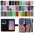 For Alcatel Onetouch Fierce XL 5054 Ultra Slim Canvas Wallet Case Cover + Pen