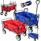 Collapsible Folding Wagon Cart Utility Garden Toy Buggy Camp Beach Sports Chart