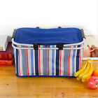 Oxford Cloth Insulated Collapsible Lunch Bags Reusable Folding Cooler Box Tote