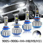 T1 LED Car Headlight COB H4 H7 H11 H8 H9 9005 9006 80W 8000LM 6000K Light Bulbs