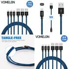 10 Ft Lightning Cable Heavy Duty Iphone 7 6 5 Long Charger Charging Cord 3 Pack