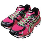 Asics Gel-Nimbus 16 Pink Green Womens Jogging Running Shoes Trainers T486N-3570
