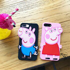Fashion New Cartoon Cute Peppa Pig Rubber Soft case cover for iphone 8 7 6S plus
