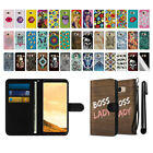 "For Samsung Galaxy S8 G950 5.8"" Ultra Slim Canvas Wallet Pouch Case Cover + Pen"