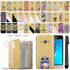 For Samsung Galaxy J1 J120 2016 Sparkling Gold TPU Case Cover Protective + Pen
