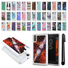 For Sony Xperia XZ F8331  Anti Shock Studded Bling HYBRID Case Phone Cover + Pen
