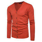 Men's Casual Slim Fit Knit V-Neck Cardigan Stylish Sweater Coat Jacket Tops