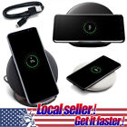 US Fast Charger Wireless Charging Pad For iPhone X Samsung Galaxy Note 9 8 S8 e0