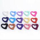 Heart Silicone Beads Chewable Teething Pendent DIY Baby Necklace Teether Making