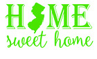 New Jersey State Home Sweet Home Vinyl Decal Sticker RV Window Wall Home Choice