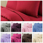 Luxuy Plain Percale Cotton Rich Non Iron Duver/Quilt Cover Set with Pillow Case