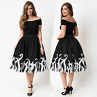 Women Octopus Squid Fancy Print Pattern Mini Knee Length Bubble Skater Skirt Lot