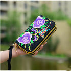 Embroidered Wallet Hmong Purse Handmade Ethnic Flowers Women Long Wallet