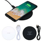 Fast Qi Wireless Charger Charging Pad Mat Slim For iPhone 8 X Note 8 S7 S8 Plus