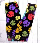 LOT 4 Leggings Peacock Puppy Paws Butterflies Butterfly Purple Paisley Plus Size