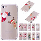 Christmas Festive Santa Reindeer TPU Back Cover for iPhone X 8 7 6 5 S 5S SE