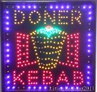Low price Flashing DONER KEBAB catering led new  window Shop signs