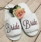 Bridal slippers, bridesmaid gifts, bride gift, Womens Plush Open Toe gift