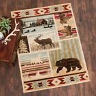 Bear Moose Cabin Rug Various Sizes and Shapes with FREE Shipping
