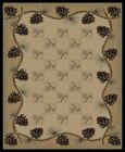 Pine Cone Cabin Rug Various Sizes and Shapes with FREE Shipping