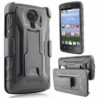 For ZTE Uhura Ultra Quest Legacy N817 Case Clip Holster Kickstand Armor Cover