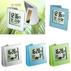 Digital Weather LCD Snooze Alarm Clock Thermometer Office Bedroom Bedside