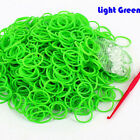 600pc/Set glitter jelly transparent colorflu rubber band refill for rainbow loom