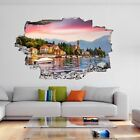 Como Lake Alps Italy Summer Sunrise 3d Wall Stickers Mural Decal Home Decor Dh35