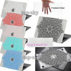 Floral Mandala Rubberized Hard Case Folk Painting Cover For Macbook 11-15 Laptop