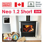 5kW Wood Burning Stove in Metallic Black with Optional Fan - NEO 1.2 Short