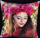 Personalised FLEECE Cushion Cover Large Printed Photo Gift Soft Warm Touch