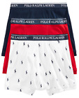 Polo Ralph Lauren Classic Fit Three Pack Cotton Boxer Briefs White Navy Blue Red