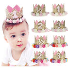 Princess Baby Girl 1st Birthday Flower Crown Party One & Two Year Hairband Tiara