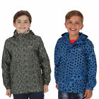 Regatta Printed Pack It Kids Packaway Waterproof Breathable Lightweight Jacket