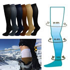 3PCS Knee High Graduated Compression Socks Nylon Pressure Leg Breathable Socks