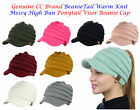 NEW! CC BeanieTail Warm Knit Messy High Bun VISOR CC Ponytail Beanie Cap