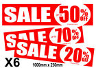 Sale posters and sale Signs %off for shop and retail display inc 6