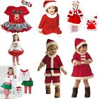 Baby Kids Boy Girl Christmas Xmas Party Dress Outfit Costume Clothes Pajamas Set
